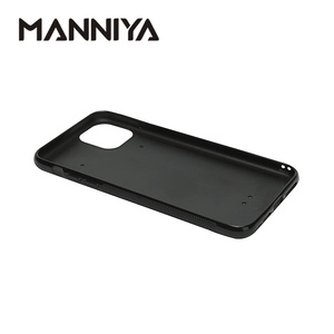 Image 2 - MANNIYA pour iphone 11/11 Pro/11 Pro Max Sublimation vierge coque de téléphone en caoutchouc + PC avec inserts en aluminium 100 pièces/lot