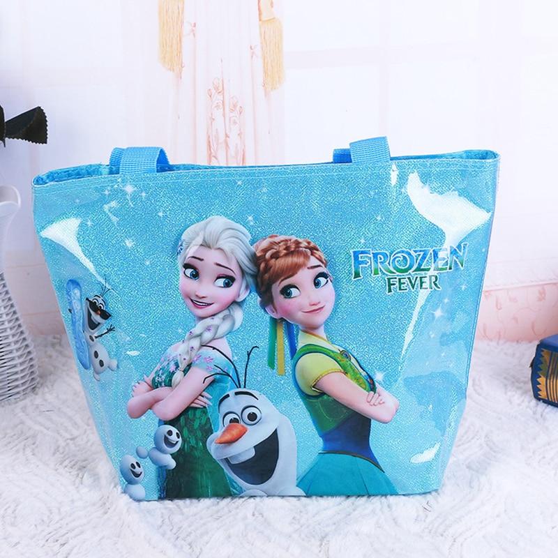 Frozen 2 Disney Sofia The First Princess Mickey Mouse Minnie Shoulder Bag Portable Picnic Bags Cartoon Beach Supplies
