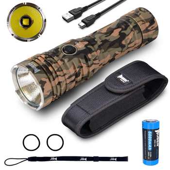 цена на WUBEN LED Flashlight High Lumens Torch 4200 Lumens CREE XHP70.2 LED Type-C Rechargeable Light  with 26650 Li-ion Battery T70