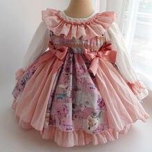 Платье yoliyolei для девочек платье принцессы Лолиты вечерние