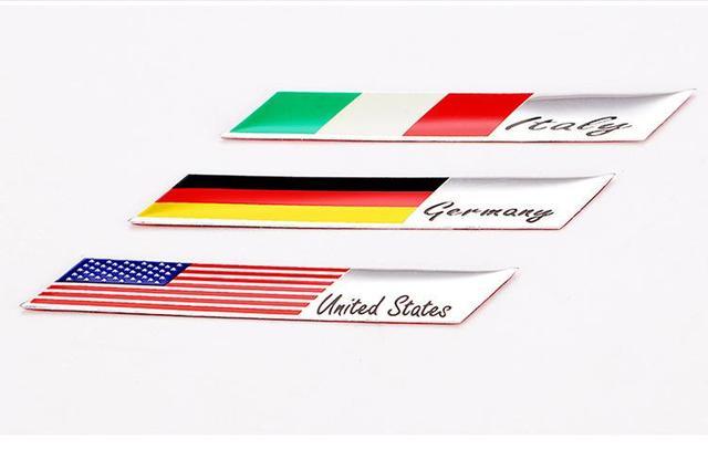 2 uds de aluminio Japón bandera emblema Fender maletero etiqueta engomada etiqueta para TOYOTA HONDA MITSUBISHI SUBARU NISSAN MAZDA