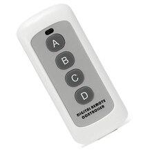 Interruptor de luz de Control remoto de 4 canales, 433MHz, transmisor de código de aprendizaje 1527, llave Fob inalámbrica para abridor de puerta de garaje H4