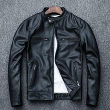Sheepskin Jacket Coat.biker Clothes.autumn Slim Men Soft-Size