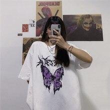 Camisa de verão de harajuku camisa de manga curta t-shirt de manga comprida de verão