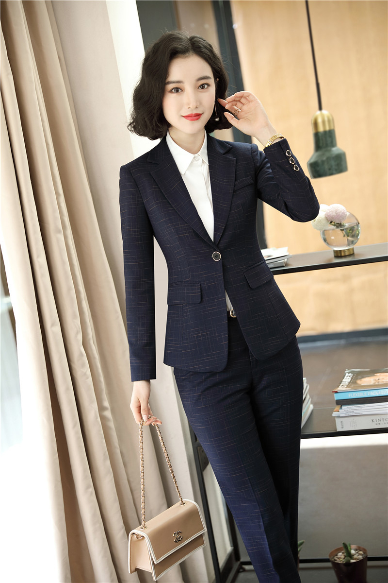 High Quality Fabric Formal Women Business Suits With Pants And Jackets Coat Autumn Winter Ladies Office Blazers Set Pantsuits