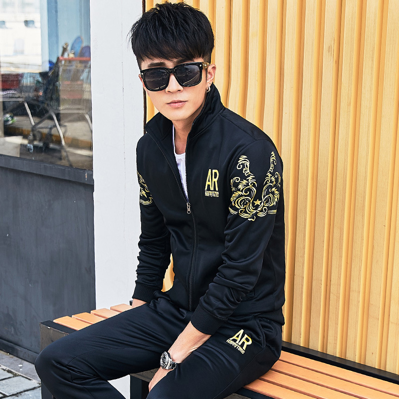 Spring And Autumn Men Hoodie Suit Sports Set Men's MEN'S Long Sleeve Casual Sweatshirt Men'S Wear