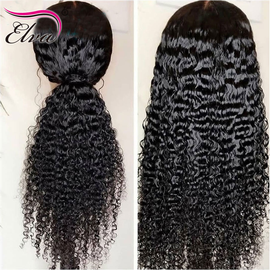 Elva Hair 13x6 Lace Front Human Hair Wigs Fake Scalp Wigs Pre Plucked With Baby Hair Curly Human Hair Wigs For Black Women Remy