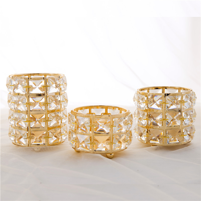 1 Piece Crystal Candlestick Creative Candle Holder Tube Jewelry Storage Box Home Wedding Party Desktop Decoration