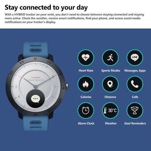 Image 4 - Zeblaze היברידי חכם שעון קצב לב צג לחץ דם מזג אוויר ספורט כושר Tracker הכפול מצבי Smartwatch גברים