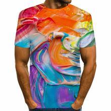 Футболка мужская с рисунком Повседневная рубашка унисекс радужным