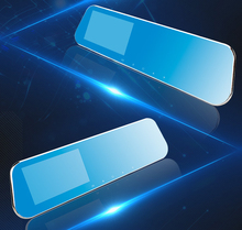 Car Dvr Dash Cam Dual Len Rear View Mirror Auto Dashcam Recorder Registrator In Car Video 4.3In Full 1080 HD Dash Camera Vehicle