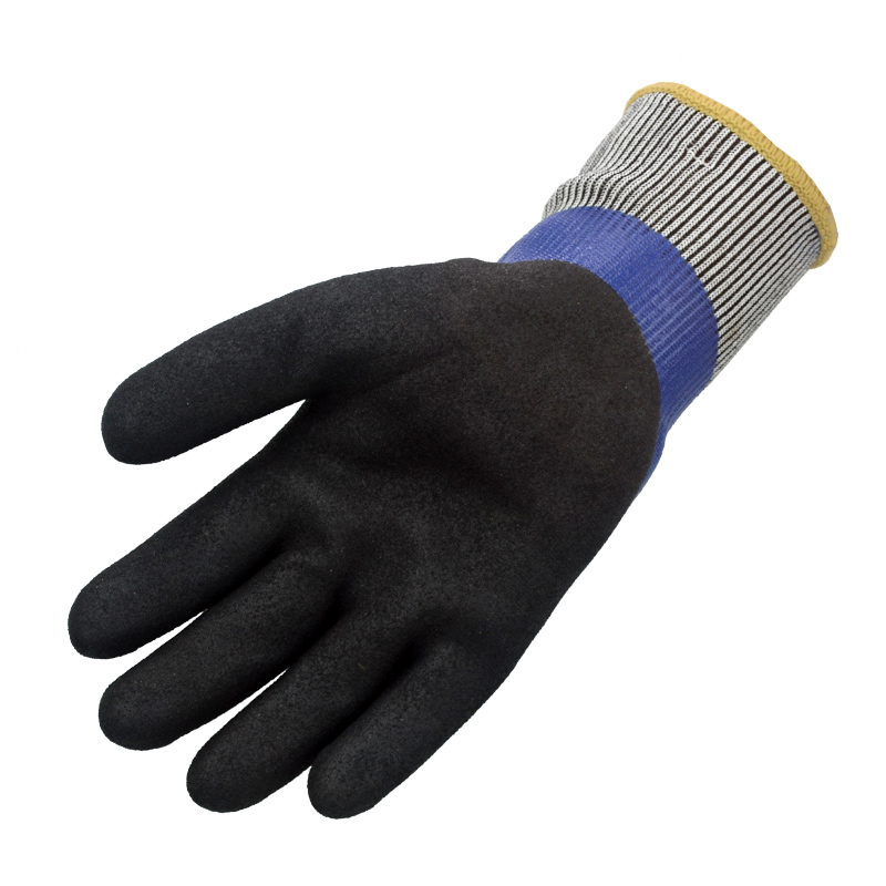 Freeze Flex Oil Resistant Food Insulated Warm Winter Garden Waterproof Skiing Anti Cold Micro Thermal Nitrile Safety Work Glove