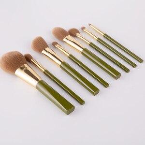 Image 5 - ANMOR 8Pcs Traveling Makeup Brushes Set Powder Blush Eye Shadow Blending Eyeshadow Make Up Brush Top Quality Pincel Maquiagem