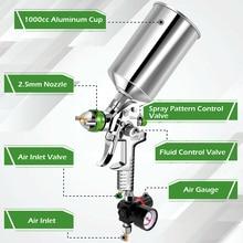 KKmoon Профессиональный Мини HVLP воздушный Краскораспылитель Аэрограф пистолет компрессор электроинструменты с 2,5 мм насадкой для краски авто...