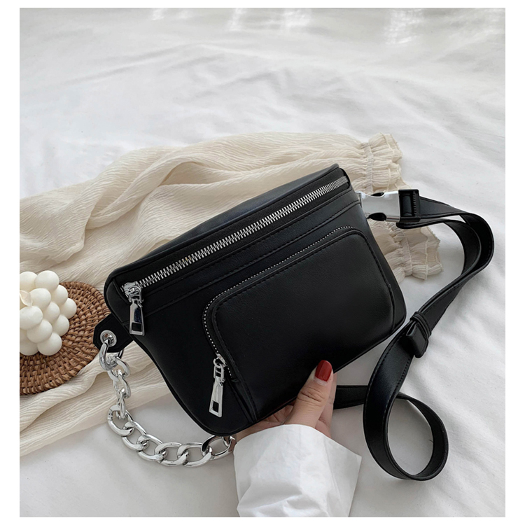 DORANMI Solid Chain Fanny Pack For Women 2020 Fashion Women's Waist Pack Female Crossbody Chest Bags Small Waist Pack Nerka G716