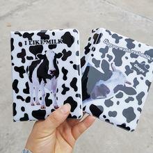 Bolsa con estampado de vaca para tarjetas de 3 pulgadas, Tarjetero con 64 bolsillos, Instax álbum de fotos, bolsa para tarjetas de negocios, soporte para foto de viaje, libro de colección
