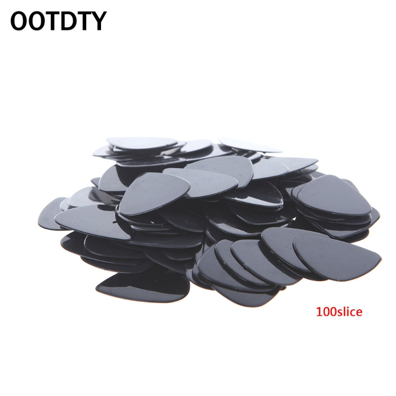 OOTDTY Lot 100pcs Acoustic Electric Guitar Picks 0.71mm Plectrums Musical Instrument