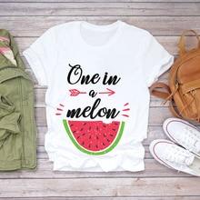 Women 2020 Summer Watermelon Fruit Sweet Funny Cute Cartoon Lady T-shir