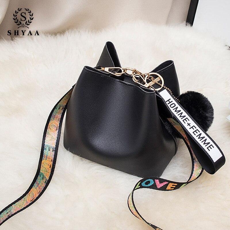 Mini Summer Bucket Handbag Women's Bag 2020 New Fashion Mini Wide Shoulder Strap Diagonal Wool Messenger Bag