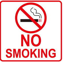 no smoking Warning Sticker (8 Pack)  Vinyl Decal Sticker— Indoor & Outdoor Use — UV Protected Waterproof