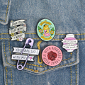 Quote Pins Collection Feminist Girl Power Kindness Wine Lover Inspirational Lovely Enamel Pin Badges Brooches