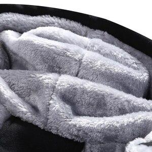 Image 5 - Kış erkek setleri Hoodies sıcak kalın polar rahat eşofman erkek spor kapşonlu ceket + pantolon 2 adet setleri baskılı eşofman erkek