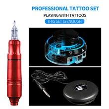 En çok satan profesyonel dövme makinesi döner kalem dövme takım elbise dövme kalemi Aurora güç ayak pedalı Mini güç dövme malzemeleri