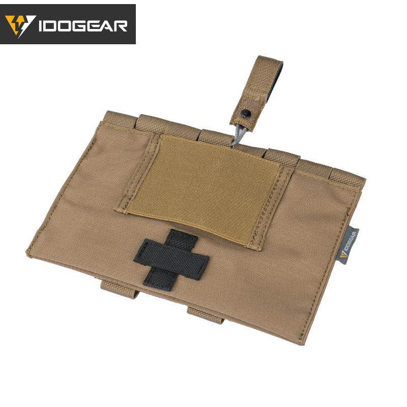 IDOGEAR Tactical Medical Pouch Organizer First Aid Kit Bag MOLLE 9022B Medical Emergency Equipment Airsoft Hunting 3548(China)