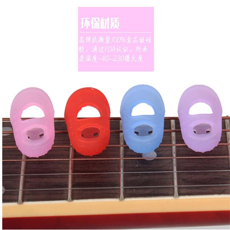 Struna gitarowa ochraniacz na palce palca Protector silikonowa lewa ręka osłona palca naciśnij akcesoria gitarowe cztery