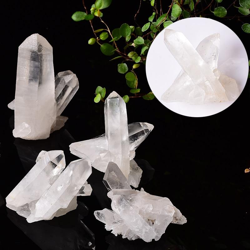 1 шт. натуральный белый кристалл кластер Асимметричные кварцевые лечебные камни для Рейки Кристалл точечный образец домашний декор необраб...
