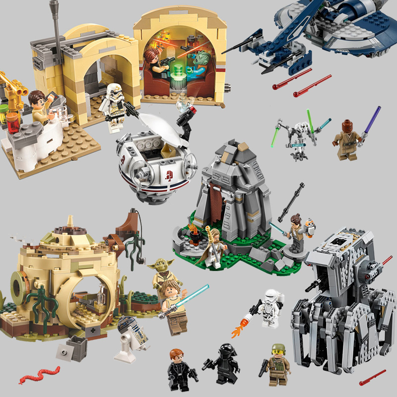 Star Wars Series Ahch-To Mos Eisley  Cantina Skywalke Fighter Building Blocks Combined Legoinglys Sets Kits Bricks Toys Gifts