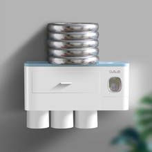 ONEUP Toothbrush Holder Magnetic Adsorption Inverted Cup Automatic Toothpaste Dispenser For Toilet Bathroom Accessories Sets