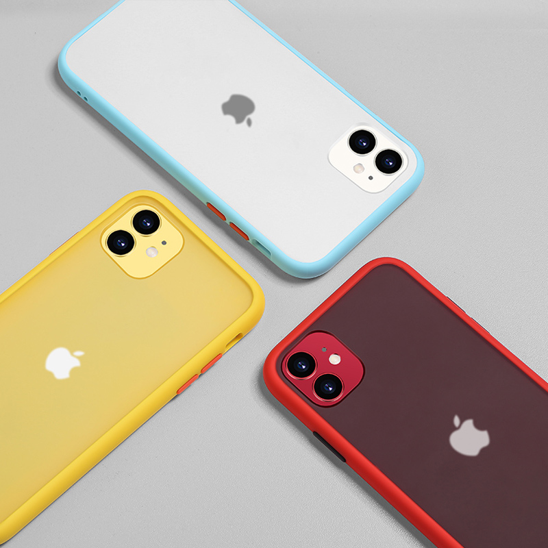 N1986N Phone Case For iPhone 11 Pro X XR XS Max 7 8 Plus Luxury Contrast Color Frame Matte Hard PC Protective For iPhone 11 Case 3