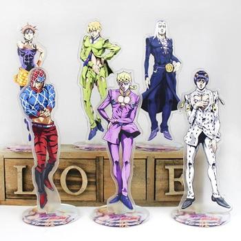 1 Pcs Cartoon Japan Anime Jojo Bizarre Adventure Cosplay Prop Accessories Acrylic Desk Stands Figure Model Toys Gifts