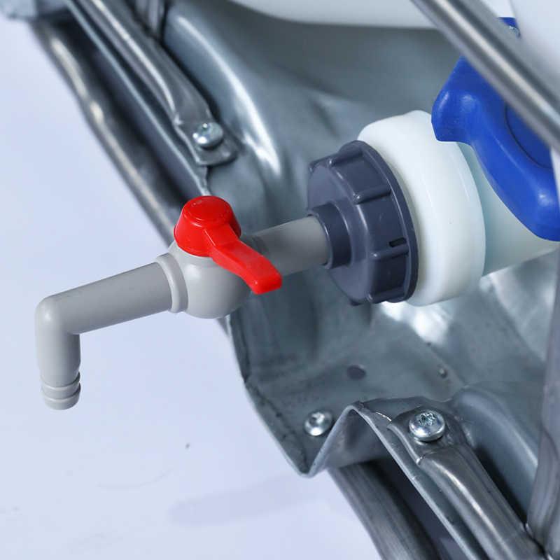 Plastik su tankı parçaları bahçe sulama konnektörü S60x6 iplik vana hortum anahtarı parçaları IBC tankı eklemler