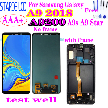 6.3''For Samsung Galaxy A9 2018 LCD A9s A9 Star Pro LCD Display with frame Touch Screen Digitizer Assembly for Samsung A9200 lcd цена 2017
