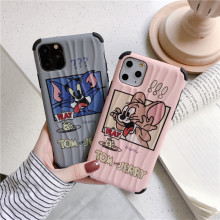Funny cat and mouse Wave pattern mobile phone shell for Apple 6 6S 7 8 Plus X XR UNBreak XS,classic for iPhone 11 Pro Max case(China)