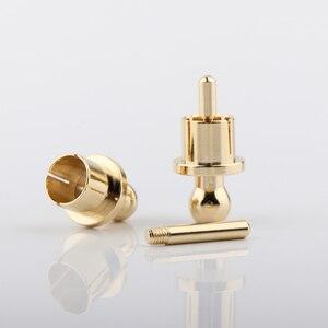 Image 5 - RCA Cap schutz staub proof Gold Überzogene Lärm Stopper Abschirmung Caps