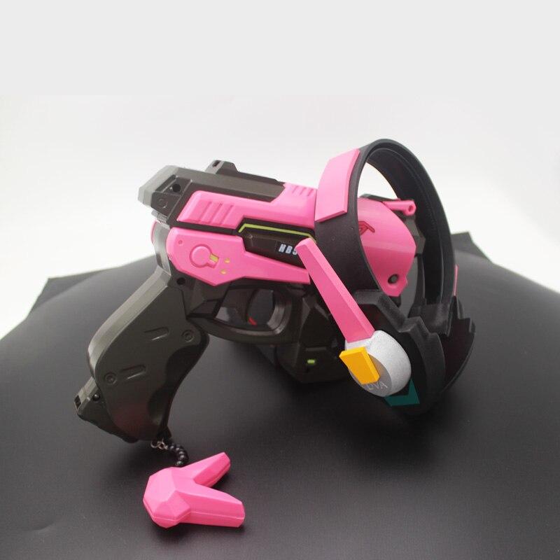 Overwatch D.Va Gun Headphone for Cosplay Weapon Hana Song D VA Prop Pistol Headset Accessories for Halloween Christmas Gift DVA 5