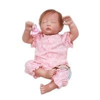 OtardDolls Full Silicone Reborn Baby Doll 20 inch Real Lifelike Sleeping Princess Girl Handmade Bebe Toy Expectant Mother Mold