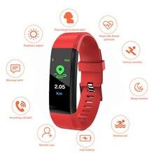 Распродажа, спортивный браслет ID115PLUS для женщин и мужчин, цветной экран IP67, водонепроницаемый браслет с шагомером пульса и артериального давления для Android iOS