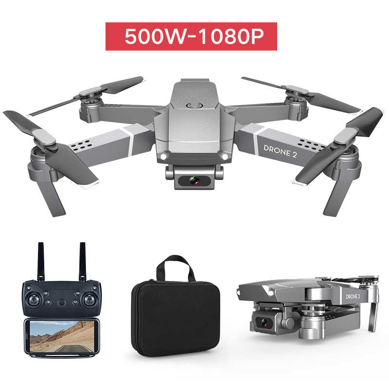 2020 E68 Mini Drone With HD 4K 1080P Camera WIFI FPV Wide Angle RC Drones Hight Hold Mode RC Foldable Quadcopter RC  Helicopter