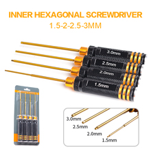 For Rc Helicopter Rc Toys Tools 4 pcs Hex Screw Driver Set Titanium Plating Hardened 1.5 2.0 2.5 3.0mm Screwdriver Mayitr