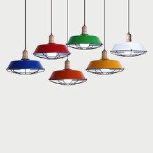 Nordic retro simples ferro líquido de alumínio madeira pingente luzes led e27 decoração da casa restaurante sala jantar pendurado luminária cozinha
