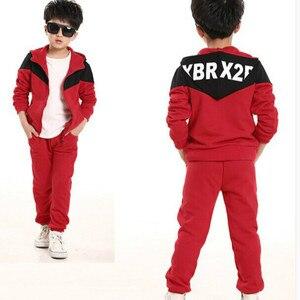 Image 3 - Survêtement pour enfants, manteau à capuche pour garçons, 2 pièces, Sport, printemps et automne décontracté