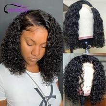 Perruque Bob Lace Front Wig malaisienne Remy naturel-Cranberry Hair   Cheveux courts ondulés, 13x4, perruque Lace Front Wig, cheveux humains