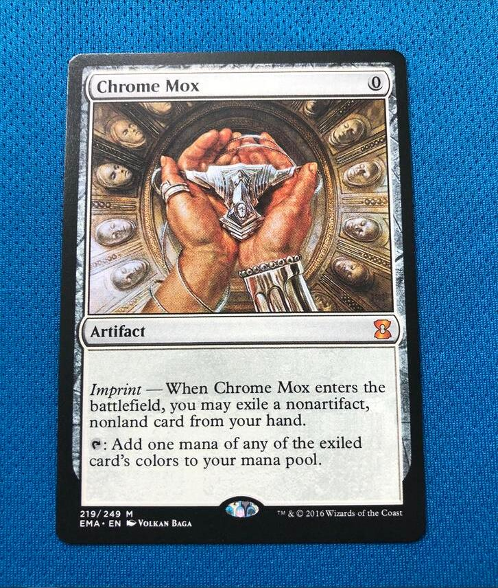 Chrome Mox  Eternal Masters EMA Hologram Magician ProxyKing 8.0 VIP The Proxy Cards To Gathering Every Single Mg Card.