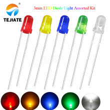 5Colors*20PCS=100PCS / 1Color=100pcs F3 3mm LED Diode Light Assorted Kit Green Blue White Yellow Red COMPONENT DIY kit