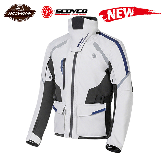 SCOYCO גברים אופנוע מעיל Chaqueta Moto Windproof מוטוקרוס Moto המעיל עם Linner להסרה הגנה לחורף