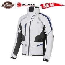 Scoyco Mannen Motorjas Chaqueta Moto Winddicht Motocross Jacket Moto Jas Met Verwijderbare Linner Bescherming Voor Winter